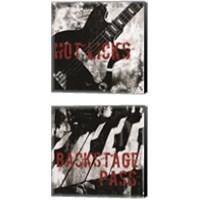 Framed Grunge Music 2 Piece Canvas Print Set