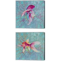 Framed Fish On Coral 2 Piece Canvas Print Set