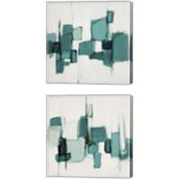 Framed Teal Cityside 2 Piece Canvas Print Set