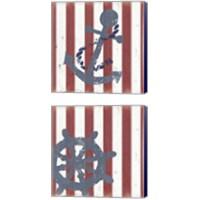 Framed American Coastal 2 Piece Canvas Print Set