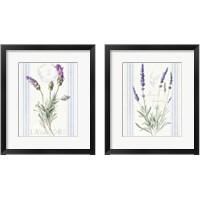 Framed Floursack Lavender 2 Piece Framed Art Print Set
