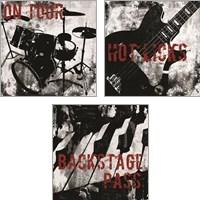 Framed Grunge Music 3 Piece Art Print Set