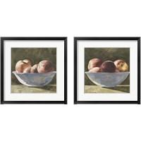 Framed Bowl of Peaches 2 Piece Framed Art Print Set