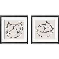 Framed Simple Pear 2 Piece Framed Art Print Set
