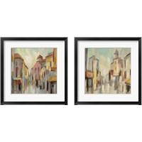 Framed Pastel Street 2 Piece Framed Art Print Set