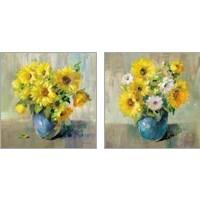 Framed Sunflower Still Life 2 Piece Art Print Set