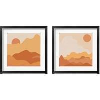 Framed Mountainous Orange 2 Piece Framed Art Print Set