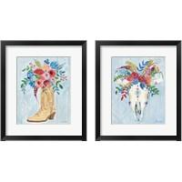 Framed Cowgirl  2 Piece Framed Art Print Set