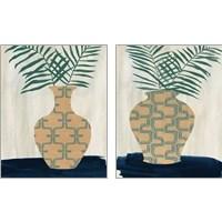 Framed Palm Branches 2 Piece Art Print Set