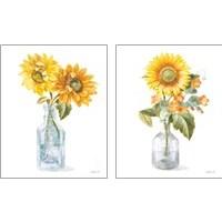 Framed Fresh Cut Sunflowers 2 Piece Art Print Set