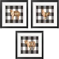 Framed Buffalo Animal 3 Piece Framed Art Print Set