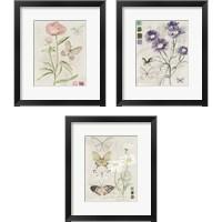 Framed Field Notes Florals 3 Piece Framed Art Print Set