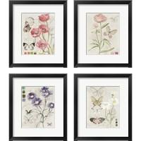 Framed Field Notes Florals 4 Piece Framed Art Print Set