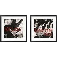 Framed Grunge Music 2 Piece Framed Art Print Set