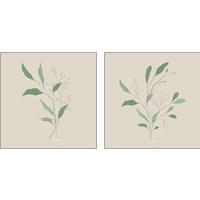 Framed Wispy Leaf 2 Piece Art Print Set