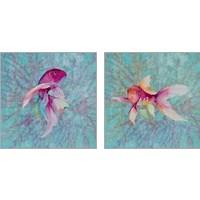 Framed Fish On Coral 2 Piece Art Print Set