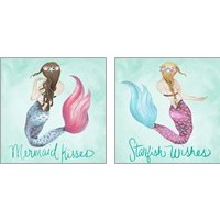 Framed Mermaid 2 Piece Art Print Set