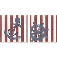 Framed American Coastal 2 Piece Art Print Set