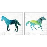 Framed Horse  2 Piece Art Print Set