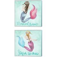 Framed Mermaid 2 Piece Canvas Print Set