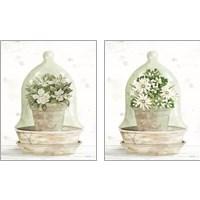 Framed Floral Cloche 2 Piece Art Print Set