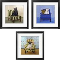 Framed Pug-a-dots 3 Piece Framed Art Print Set