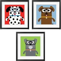 Framed Bow Wow Dogs 3 Piece Framed Art Print Set