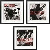 Framed Grunge Music 3 Piece Framed Art Print Set