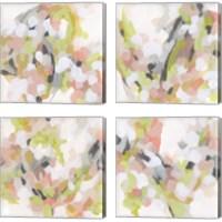 Framed Dogwood Prism 4 Piece Canvas Print Set