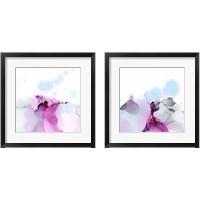 Framed Fluid Magenta 2 Piece Framed Art Print Set