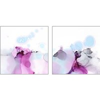 Framed Fluid Magenta 2 Piece Art Print Set