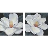 Framed Blooming Magnolia 2 Piece Art Print Set