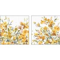 Framed Happy Yellow 2 Piece Art Print Set