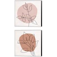 Framed Just Leaves 2 Piece Canvas Print Set