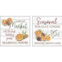 Framed Seasonal Market 2 Piece Art Print Set