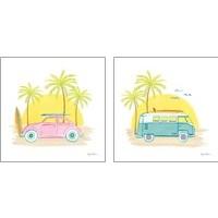 Framed Beach Cruiser 2 Piece Art Print Set