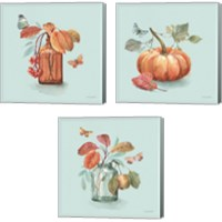 Framed Autumn in Nature 3 Piece Canvas Print Set