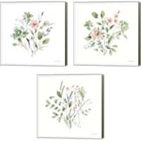 Framed Inner Garden 3 Piece Canvas Print Set