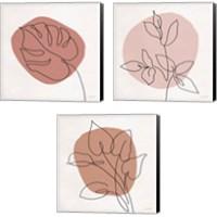 Framed Just Leaves 3 Piece Canvas Print Set