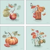 Framed Autumn in Nature 4 Piece Art Print Set