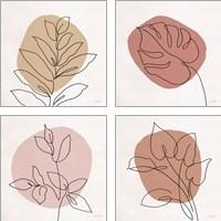 Framed Just Leaves 4 Piece Art Print Set