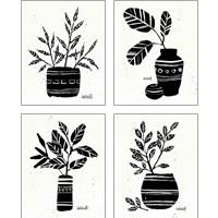 Framed Botanical Sketches 4 Piece Art Print Set
