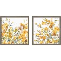 Framed Happy Yellow 2 Piece Framed Art Print Set